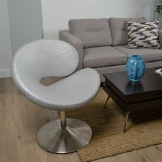 C Shape Swivel Lounge Chair