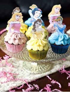 Princess cupcakes. That'd be cute for a little girl party.