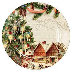 Found it at Wayfair - Vintage Santa Ceramic Dinner Plate
