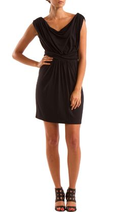 Black Draped Dress / YOUNG by Yoyo Yeung   Some day I will have this cute dress!