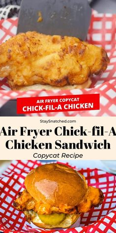 This Air Fryer Chicken Sandwich (Chick-fil-A Copycat) recipe is the best homemade meal the whole family will love! The chicken is brined in pickle juice and buttermilk, which produces tender and juicy Air Frier Recipes, Air Fryer Oven Recipes, Air Fryer Dinner Recipes, Recipes For Airfryer, Air Fryer Recipes Pickles, Air Fryer Recipes Videos, Air Fryer Recipes Appetizers, Fried Chicken Breast, Air Fry Chicken