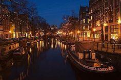 Amsterdam Canal Romantic night stroll