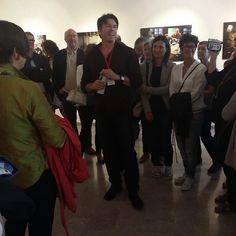 @roccostudio presenting his exhibition
