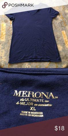 Merona stretch tshirt royal blue Sz XL FREE OPTION Stretchy and soft! Merona Tops Tees - Short Sleeve
