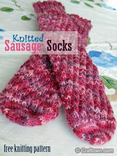 Sausage socks - free knitting pattern.  #knitting #freepattern