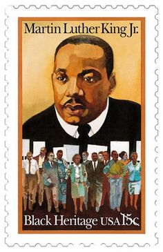 Martin Luther King Jr. was one the most powerful leaders of the African-American protest movement of the 1950s and 60s. He spearheaded mass action through marches, sit-ins, boycotts and nonviolent demonstrations, which profoundly affected America's attitudes toward racial prejudice and discrimination. In 1963, he became the first African-American honored as TIME magazine's Man of the Year, and he was awarded the Nobel Peace Prize in 1964. This stamp was issued in 1979. #BlackHistoryMonth