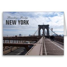 New York Brooklyn Bridge Greeting Card