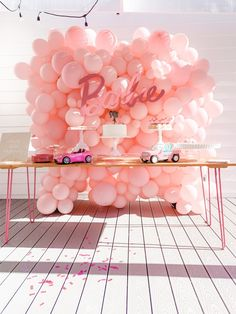21st Bday Ideas, Ninja Birthday Parties, 2nd Birthday Party Themes, 5th Birthday, Barbie Party Decorations, Barbie Theme Party, Barbie Birthday Party, Balloon Wall, Party Shop