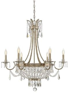 Shop this savoy house claiborne avalite six-light wide chandelier with clear crystal and metal candle cover from our top selling Savoy House chandeliers. LuxeDecor is your premier online showroom for lighting and high-end home decor. Empire Chandelier, Chandelier Ceiling Lights, Bubble Chandelier, Crystal Chandeliers, Gold Chandelier, Chandelier Shades, Style Empire, Lantern Pendant, Pendant Lamps