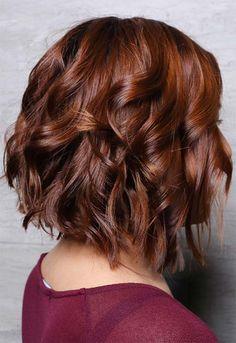Winter Hair Colors Ideas & Trends: Deep Copper Hair Best Picture For Pastel Purple Hair, Hair Color Purple, Brown Hair Colors, Dyed Tips, Hair Dye Tips, Honey Brown Hair, Brown Blonde Hair, Auburn Hair Dye, Dark Auburn Hair Color
