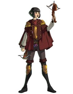Here's Taya Frazor, half-elf alchemist! Who knew repeating crossbows were a real thing? Character Poses, My Character, Character Concept, Character Design, Character Ideas, Concept Art, Dungeons And Dragons Characters, D D Characters, Fantasy Characters