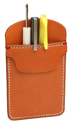 Leather Pocket Protector. Awesomely ridiculous or ridiculously awesome. Who's to say.