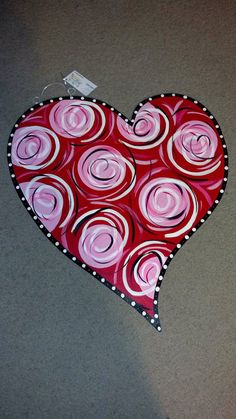 Super Cute Valentines Day Heart Door Hanger By Jagartoriginals 35 00 Valentines Door Decor Valentines