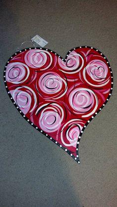 SUPER CUTE Valentines Day heart door hanger by JAGARToriginals, $35.00