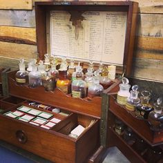 French Apothecary box
