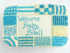 Baby Shower Quilt Cake for Baby Boy