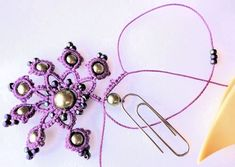Back of necklace   The earrings are my Carnival  pattern, and the necklace is a design that I made up as I went.   People often ask if ...