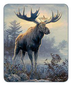 Look what I found on #zulily! Hautman Bros. Moose Blanket #zulilyfinds