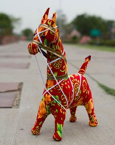 Indian hippie home decor handmade horse best gift for kids and