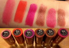 Super vibrant yet affordable #drugstore #lipstick #swatches by @Annamaria Kyriazis    We'd <3 to see your product faves, upload 'em on the website: http://www.glam-express.com