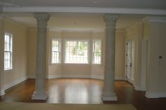 Indoor columns as a room divider