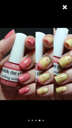 Cute coral! Mellow yellow!