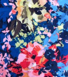 Cardi/Vest | Simply Silky Prints-Abstract Linear Floral Multi Chiffon, , hi-res