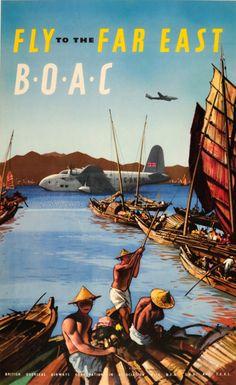 BOAC travel poster