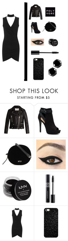 """🖤black🖤"" by cacemice ❤ liked on Polyvore featuring Acne Studios, Apt. 9, NYX, Christian Dior, WearAll and West Coast Jewelry"