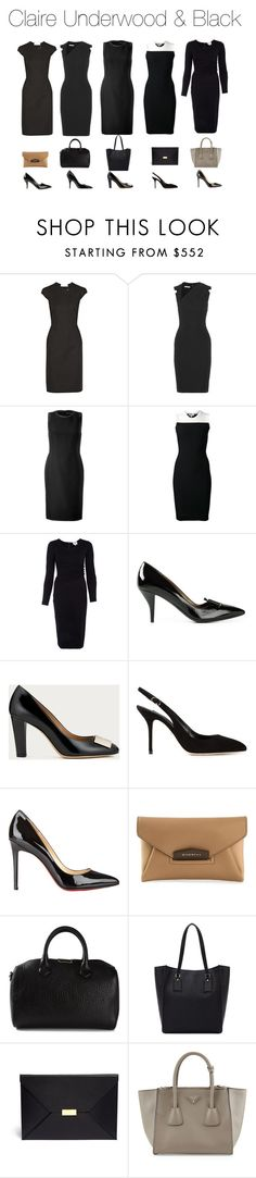 """Claire Underwood & Black"" by oliviapope411 ❤ liked on Polyvore featuring Zac Posen, Antonio Berardi, Ralph Lauren Black Label, Narciso Rodriguez, Armani Collezioni, Lanvin, Bally, Kate Spade, Dolce&Gabbana and Christian Louboutin"