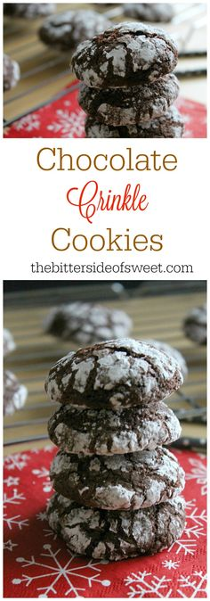 -Chocolate Crinkle Cookies  - The Bitter Side of Sweet