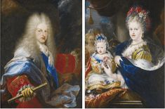 Portraits of Philip V of Spain and his wife Marie-Luisa-Gabriella of Savoy Miguel Jacinto Melendez 1709