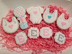 The cookies I made for my daughter's baby shower.