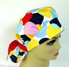 Bouffant Women's Surgical Scrub Hat or Cap Nursing by ScrubsbyEdie