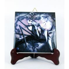 Jack and Sally from The Nightmare before Christmas wall decor... (€9,05) ❤ liked on Polyvore featuring home and home decor