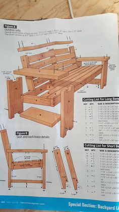 First Project: Patio Benches Patio Furniture Makeover, Outdoor Furniture Plans, Woodworking Furniture Plans, Log Furniture, Diy Pallet Furniture, Woodworking Projects Diy, Wood Projects, Woodworking Tools, Wooden Bench Plans