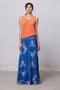 Ping Embroidered Maxi Skirt - Anthropologie.com