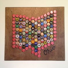Bradford's Bottle Cap Business  I sell state bottle cap art for all those people out there who have state and beer pride. They make amazing gifts! For more information go to craftedohio.wordpress.com.