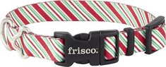 Frisco Patterned Holiday Candy Cane Dog Collar, 8 - 12 in - Chewy.com