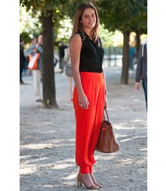 Are the pants orange? Red? Just fluorescent? We'll settle with that.   - MarieClaire.com