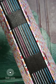 multicolor longstitch journal by Little Syam #bookbinding