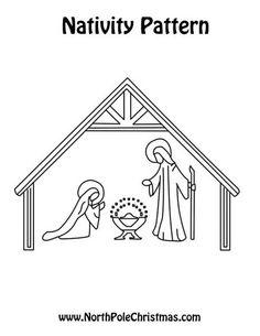 free nativity manger scene more
