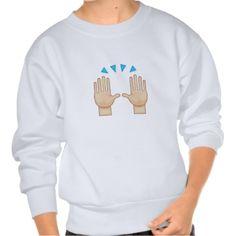 Person Raising Both Hands In Celebration Emoji Pull Over Sweatshirts
