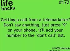 Telemarketers and do not call list