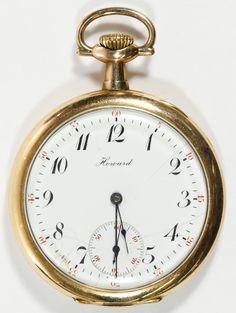 Lot 480: E. Howard Gold Filled Open Face Case Pocket Watch; Serial #1074379 having 17 jewel movement