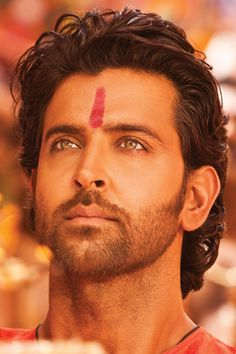 Hrithik Roshan.....i have a thing for this red spot on foreheads...don't know why.....