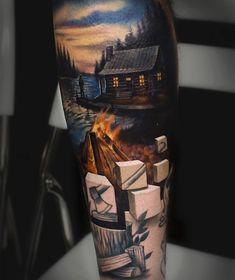 Diese Tattoos gehen unter die Haut und zeigen unerwartete Welten  Die intensiven Farben von Tattoo-Künstler Jesse Rix sprechen zwar für Qualität, sind aber nicht das, was seine Bilder auf der Haut seiner Kundsch...