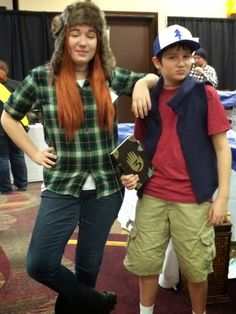 Wendy and Dipper from Gravity Falls - they look awesome!