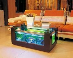 Fish Tank In A Coffee Table Yes Please