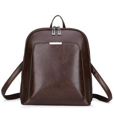 Vintage Backpack Female Brand Leather Women's Backpack Large Capacity School Bag For Girl Leisure Shoulder Bag For Women Mochila Leather Backpacks For Girls, Vintage Backpacks, Girl Backpacks, School Backpacks, Luxury Backpacks, Shoulder Bags For School, School Bags For Girls, Girls Bags, Backpack Purse